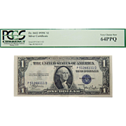 1935C Pcgs 64PPQ $1 Silver Certificate Fr. 1612