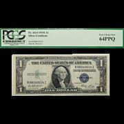 1935E Pcgs 64PPQ $1 Silver Certificate Fr. 1614