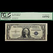 1935F Pcgs 64PPQ $1 Silver Certificate Fr. 1615