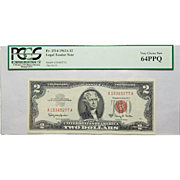 1963A Pcgs 64PPQ $2 Legal Tender Note Fr. 1514