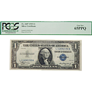 1935 Pcgs 65PPQ $1 Silver Certificate Fr. 1607