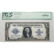 1923 Pcgs 62PPQ $1 Silver Certificate Fr. 237