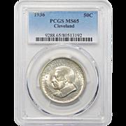 1936 Pcgs MS65 Cleveland Half Dollar