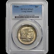 1936 Pcgs MS65 Long Island Half Dollar