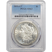 1892-CC Pcgs MS63 Morgan Dollar