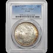 1878 7/8TF Weak Pcgs MS65 Morgan Dollar