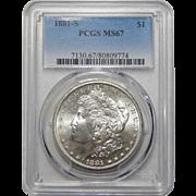 1881-S Pcgs MS67 Morgan Dollar