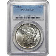 1923-D Pcgs MS64 Peace Dollar