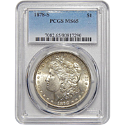 1878-S Pcgs MS65 Morgan Dollar