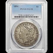 1894 Pcgs VG10 Morgan Dollar