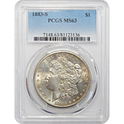 1883-S Pcgs MS63 Morgan Dollar