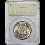 1943 Pcgs Rattler MS63 Walking Liberty Half Dollar