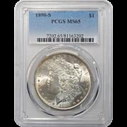 1890-S Pcgs MS65 Morgan Dollar