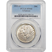 1939-D Pcgs MS66 Arkansas Half Dollar
