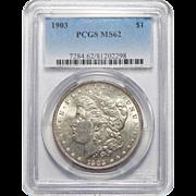 1903 Pcgs MS62 Morgan Dollar