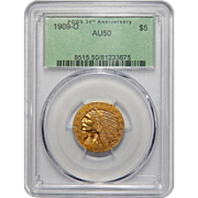 1909-O Pcgs AU50 $5 Indian Head Gold