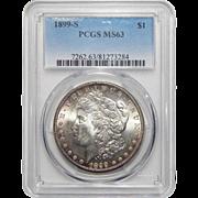 1899-S Pcgs MS63 Morgan Dollar