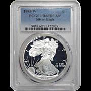 1995-W Pcgs PR69DCAM $1 Silver Eagle