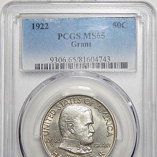 1922 Pcgs MS65 Grant Half Dollar