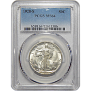 1928-S Pcgs MS64 Walking Liberty Half Dollar