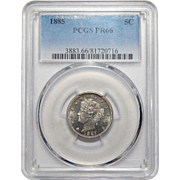 "1885 Pcgs PR66 Liberty ""V"" Nickel"