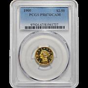 1900 Pcgs PR67DCAM $2.50 Liberty Head Gold