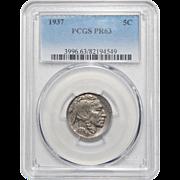 1937 Pcgs PR63 Buffalo Nickel