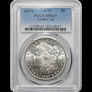 1887/6 Pcgs MS63+ VAM 2 7/6 Top-100 Morgan Dollar