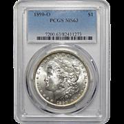 1890-O Pcgs MS63 Morgan Dollar