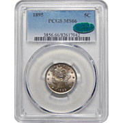 "1895 Pcgs/Cac MS66 Liberty ""V"" Nickel"