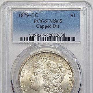 1879-CC Pcgs MS65 Capped Die Morgan Dollar