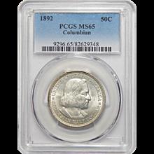 1892 Pcgs MS65 Columbian Half Dollar