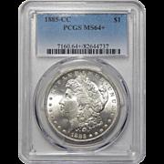 1885-CC Pcgs MS64+ Morgan Dollar