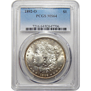 1892-O Pcgs MS64 Morgan Dollar