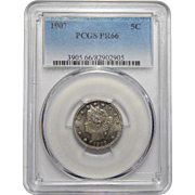 "1907 Pcgs PR66 Liberty ""V"" Nickel"