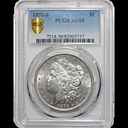 1892-S Pcgs AU58 Morgan Dollar