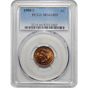 1908-S Pcgs MS66RD Indian Head Cent