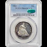 1883 Pcgs/Cac PR64DCAM Liberty Seated Half Dollar