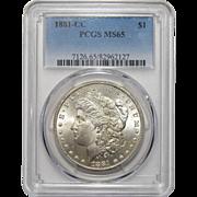 1881-CC Pcgs MS65 Morgan Dollar