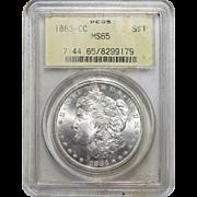 1883-CC Pcgs MS65 Morgan Dollar