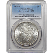 1879-S Pcgs MS63 Reverse of 1878 Morgan Dollar