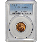 1910-S Pcgs MS66RD Lincoln Wheat Cent