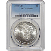 1884-CC Pcgs MS66 Morgan Dollar