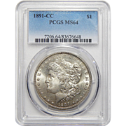 1891-CC Pcgs MS64 Morgan Dollar