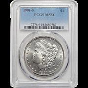 1901-S Pcgs MS64 Morgan Dollar