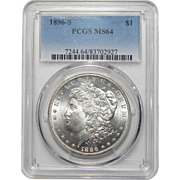 1896-S Pcgs MS64 Morgan Dollar