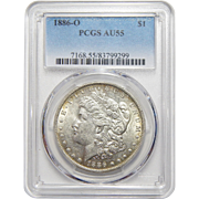 1886-O Pcgs AU55 Morgan Dollar