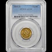 1846-D Pcgs AU53 $2.50 Liberty Head Gold