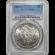 1883-S Pcgs MS62 Morgan Dollar