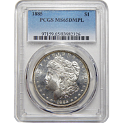 1885 Pcgs MS65DMPL Morgan Dollar